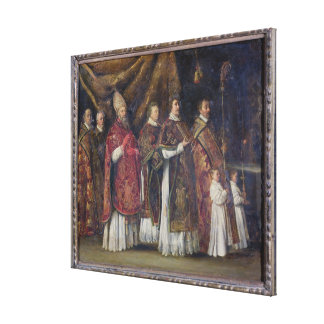 The Pontifical Mass or, The Procession Canvas Print