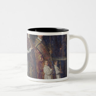 The Pontifical Mass or, The Procession Two-Tone Coffee Mug