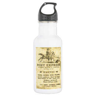 The Pony Express Wanted Poster: American History 18oz Water Bottle