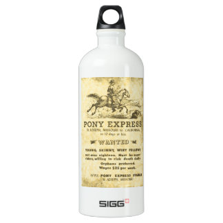 The Pony Express Wanted Poster: American History Water Bottle