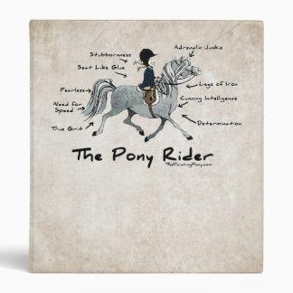 The Pony Rider 3 Ring Binder