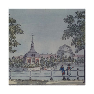 The Pool and French Church in Potsdam, c.1796 Stretched Canvas Print