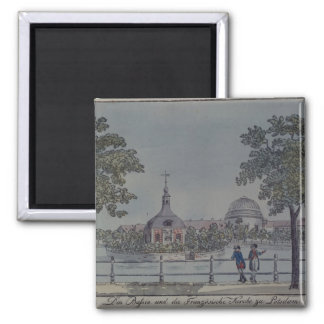 The Pool and French Church in Potsdam, c.1796 Magnet