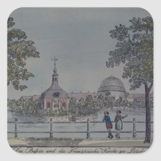 The Pool and French Church in Potsdam, c.1796 Square Sticker