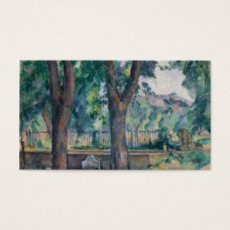 The Pool at the Jas de Bouffan - Paul Cézanne Business Card