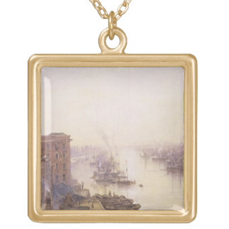 The Pool from the Adelaide Hotel, London Bridge Gold Plated Necklace
