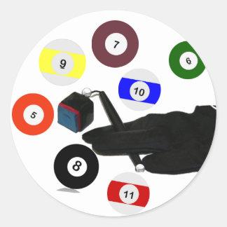 The Pool Glove Classic Round Sticker