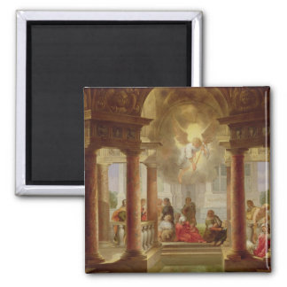 The Pool of Bethesda, 1645 2 Inch Square Magnet