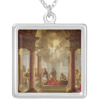 The Pool of Bethesda, 1645 Silver Plated Necklace