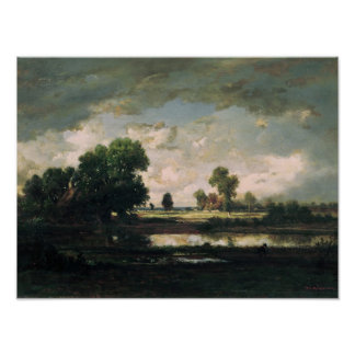 The Pool with a Stormy Sky, c.1865-7 Poster