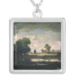 The Pool with a Stormy Sky, c.1865-7 Silver Plated Necklace
