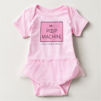 The Poop Machine Has a Rude Family Pink Baby Bodysuit