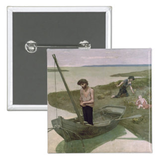 The Poor Fisherman, 1881 Pinback Button