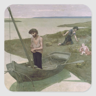 The Poor Fisherman, 1881 Square Sticker