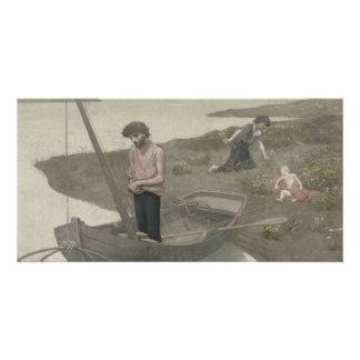 The Poor Fisherman by Puvis de Chavannes Card