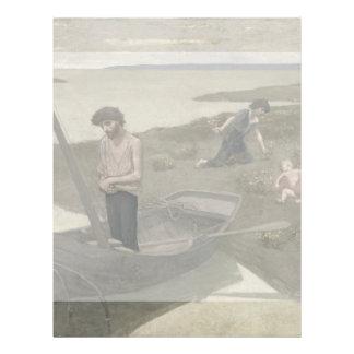 """The Poor Fisherman by Puvis de Chavannes 8.5"""" X 11"""" Flyer"""