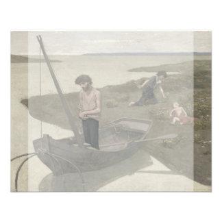 """The Poor Fisherman by Puvis de Chavannes 4.5"""" X 5.6"""" Flyer"""