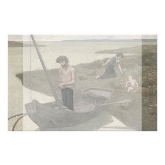 """The Poor Fisherman by Puvis de Chavannes 5.5"""" X 8.5"""" Flyer"""