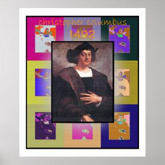 The Pop Art Christopher Columbus Poster