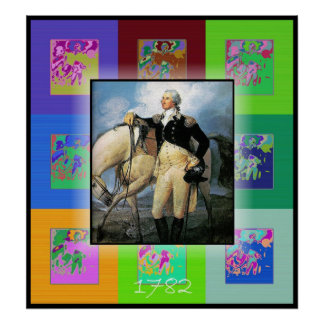 The Pop Art George Washington Poster