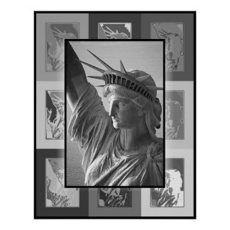 The Pop Art Lady Liberty Poster