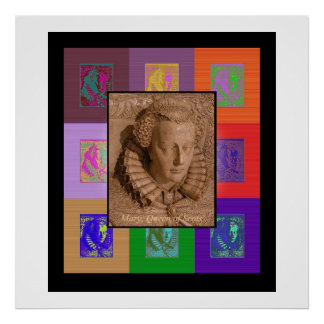 The Pop Art Mary, Queen of Scots Print