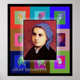 The Pop Art Saint Bernadette Poster
