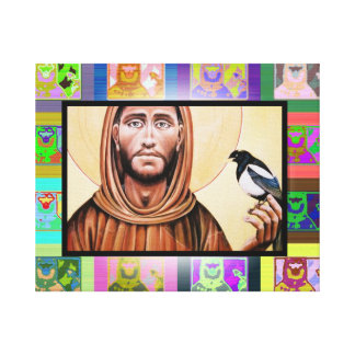 The Pop Art St Francis of Assisi Gallery Wrapped Canvas