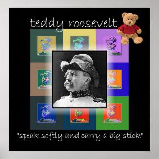 The Pop Art Teddy Roosevelt Poster