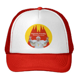 The Pope in Sacred Family Trucker Hat