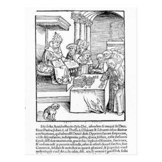 The Pope selling Indulgences Postcard