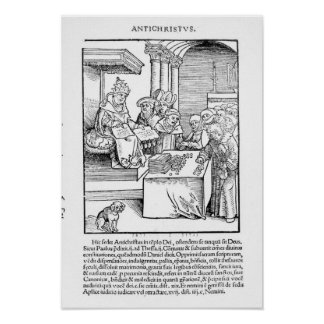 The Pope selling Indulgences Poster