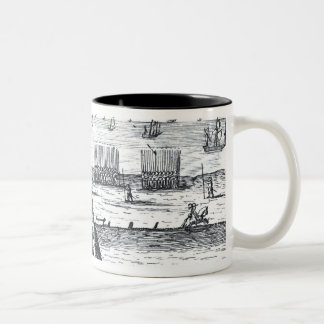 The Pope's Bull against the Queen in 1570 Two-Tone Coffee Mug