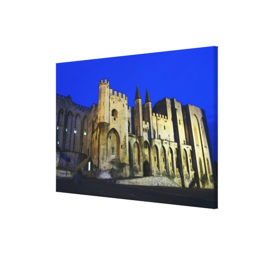 The Pope's Palace in Avignon at sunset. Built 2 Stretched Canvas Print