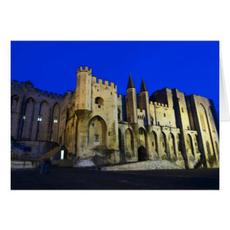 The Pope's Palace in Avignon at sunset. Built 2 Card
