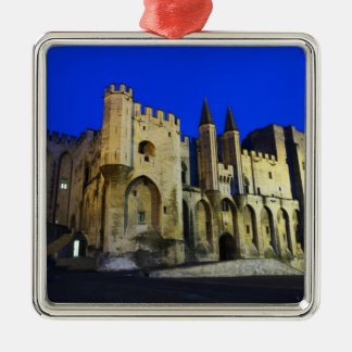 The Pope's Palace in Avignon at sunset. Built 2 Metal Ornament