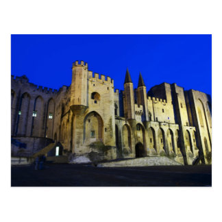 The Pope's Palace in Avignon at sunset. Built 2 Postcard