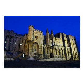 The Pope's Palace in Avignon at sunset. Built 2 Poster