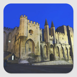 The Pope's Palace in Avignon at sunset. Built 2 Square Sticker