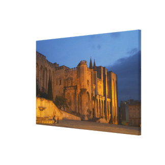 The Pope's Palace in Avignon at sunset. Built Canvas Print