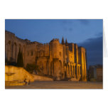 The Pope's Palace in Avignon at sunset. Built Greeting Card
