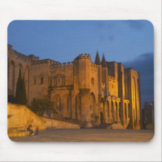 The Pope's Palace in Avignon at sunset. Built Mouse Pad