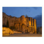 The Pope's Palace in Avignon at sunset. Built Postcard