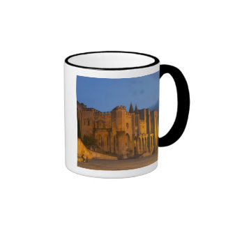 The Pope's Palace in Avignon at sunset. Built Ringer Coffee Mug