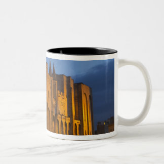 The Pope's Palace in Avignon at sunset. Built Two-Tone Coffee Mug