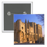 The Pope's Palace in Avignon with people 2 Inch Square Button