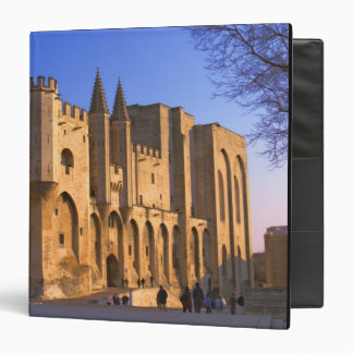 The Pope's Palace in Avignon with people 3 Ring Binders