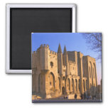 The Pope's Palace in Avignon with people Refrigerator Magnet