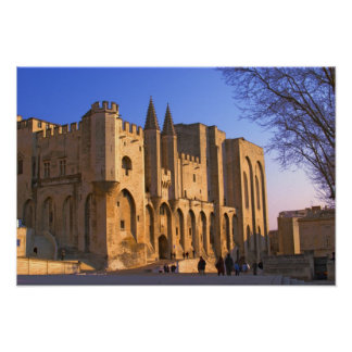 The Pope's Palace in Avignon with people Poster