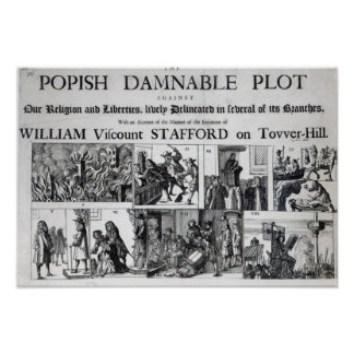The Popish Damnable Poster